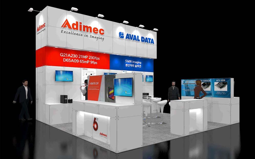 Adimec booth at Automation World Korea